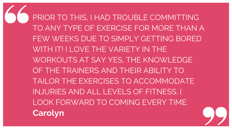Say Yes Fitness Testimonial